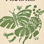 Francis Ponge: Proemes Art Print