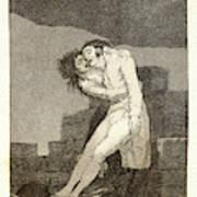 Francisco De Goya Spanish, 1746-1828. El Amor Y La Muerte Art Print