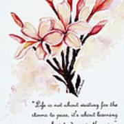 Frangipangi Pulmeria  Poem Art Print