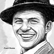 Frank Sinatra Art Drawing Sketch Portrait Art Print