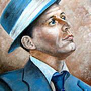 Frank Sinatra Ol Blue Eyes Art Print