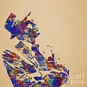 Frank Sinatra Watercolor Art Print