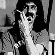 Frank Zappa - Chalk And Charcoal Art Print by Joann Vitali