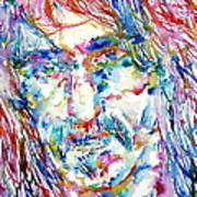 Frank Zappa  Portrait.3 Art Print