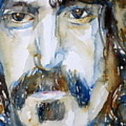 Frank Zappa Watercolor Portrait.2 Art Print