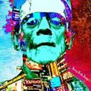Frankenstein Visits Times Square Art Print