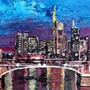Frankfurt Main Germany - Mainhattan Skyline Art Print
