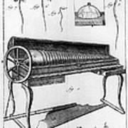 Franklin: Armonica, 1761 Art Print