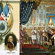 Franklin At Versailles Art Print