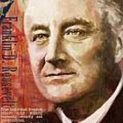 Franklin D. Roosevelt Art Print by Corporate Art Task Force