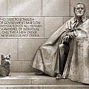 Franklin Delano Roosevelt Memorial - Bits And Pieces 7 Art Print