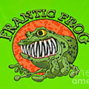Frantic Frog Art Print