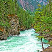 Fraser River Beyond Overlander Falls Along Yellowhead Highway-bc Art Print
