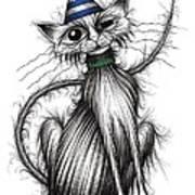 Fred The Cat Art Print