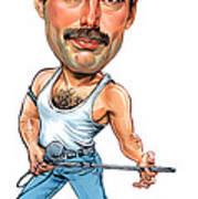 Freddie Mercury Print by Art