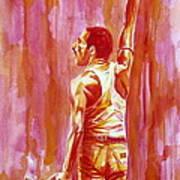 Freddie Mercury Singing Portrait.3 Art Print
