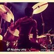 Freddie White Playing Drums Spirit Tour Art Print