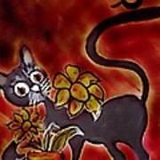 Freddy The Cat Art Print