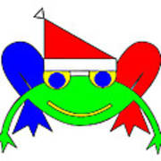 Frederic the Frog whishes you a Merry Christmas Art Print