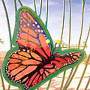 Free Butterfly Fly Art Print