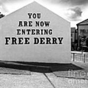 Free Derry Corner 9 Art Print