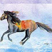Da114 Free Gallop By Daniel Adams Art Print