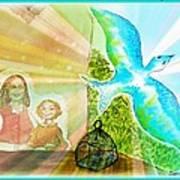 Free Spirit Dreamscape - Within Border Art Print
