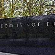 Freedom Is Not Free Art Print