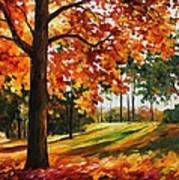 Freedom Of Autumn - Palette Knife Oil Painting On Canvas By Leonid Afremov Art Print