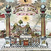 Freemason Emblematic Chart Art Print