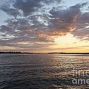 Freeport Cloudy Summertime Sunset Art Print