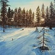 Freezing Forest Art Print
