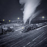 Freight Train About To Leave The Atchison Circa 1943 Art Print