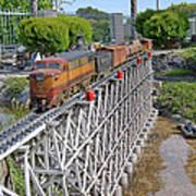 Freight Train Bridge Crossing Art Print