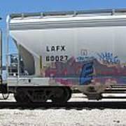 Freight Train Graffiti 7 Art Print