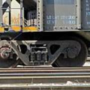 Freight Train Wheels 1 Art Print