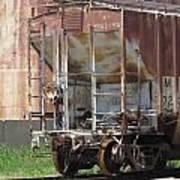 Freight Train Wheels 12 Art Print