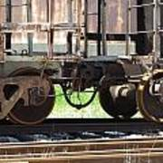 Freight Train Wheels 13 Art Print