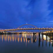 Fremont Bridge Blues Art Print