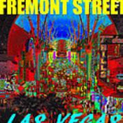 Fremont Street Poster Work C Art Print