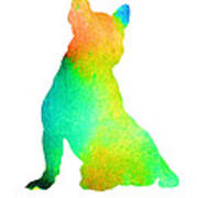 French Bulldog Image Art Silhouette Art Print