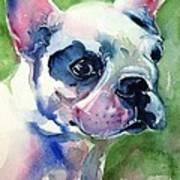 French Bulldog Painting Art Print