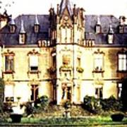 French Chateau 1955 Art Print