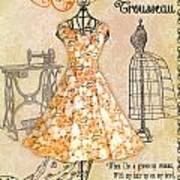 French Dress Shop-c Art Print