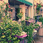 French Floral Shop Art Print