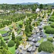 French Garden, Nong Nooch Tropical Botanical Garden, Pattaya, Thailand Art Print
