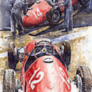 French Gp 1952 Ferrari 500 F2 Art Print
