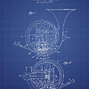 French horn patent from 1914 blueprint digital art by aged pixel french horn patent from 1914 blueprint poster malvernweather Image collections