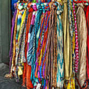 French Market Scarves Art Print