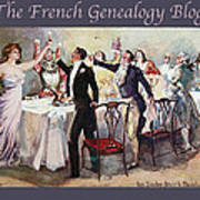 French New Year With Fgb Border Art Print